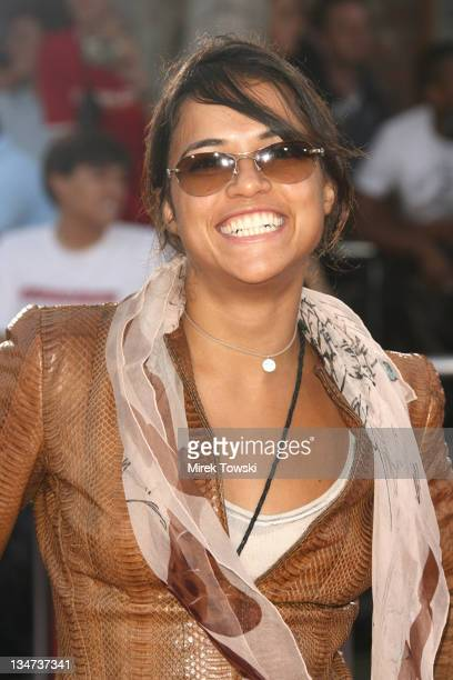 Michelle Rodriguez during 'Miami Vice' Los Angeles World Premiere at Mann Village Theatre in Westwood California United States