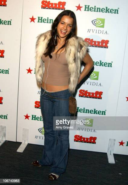Michelle Rodriguez during Stuff Magazine Presents 'The Granny Party' at Avalon in Hollywood California United States