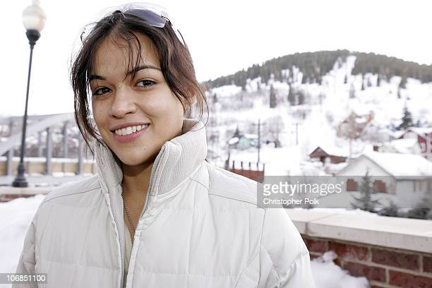 Michelle Rodriguez in Napapirji during UPP Hot House sponsored by The North Face Napapijri Hush Puppies Nautica LEE Biolage Absolut Atkins Wigwam and...
