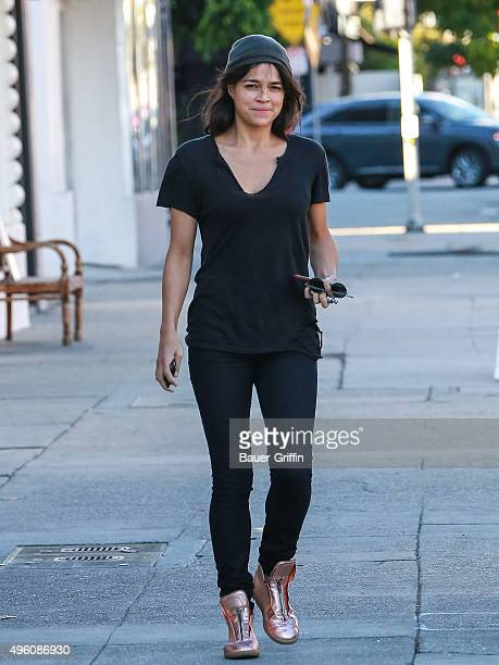 Michelle Rodriguez is seen on November 06 2015 in Los Angeles California