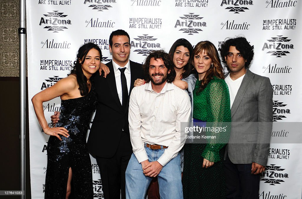 <a gi-track='captionPersonalityLinkClicked' href=/galleries/search?phrase=Michelle+Rodriguez&family=editorial&specificpeople=206182 ng-click='$event.stopPropagation()'>Michelle Rodriguez</a>, <a gi-track='captionPersonalityLinkClicked' href=/galleries/search?phrase=Mohammed+Al+Turki&family=editorial&specificpeople=7520874 ng-click='$event.stopPropagation()'>Mohammed Al Turki</a>, Jose Maria de Tavira, Zeina Durra, Marianna Kulukundis and Karim Saleh attend The Atlantic Magazine And AriZona Beverages Los Angeles Premiere Of 'The Imperialists Are Still Alive!' at Soho House on April 19, 2011 in West Hollywood, California.