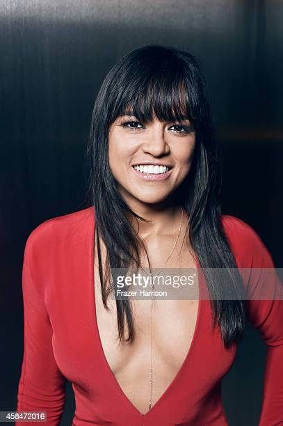 Michelle Rodriguez poses for a portrait at the amfAR LA Inspiration Gala on October 29 2014 in Los Angeles California