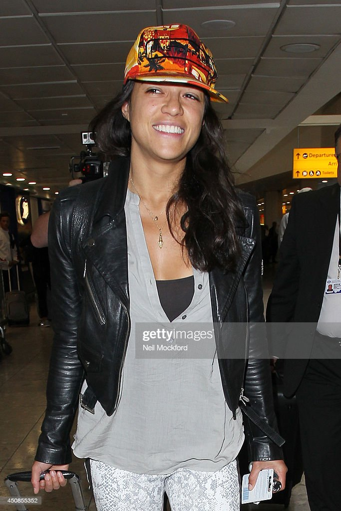 Michelle Rodriguez seen arriving at Heathrow Airport on June 19, 2014 in London, England.