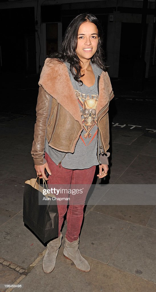 Michelle Rodriguez sighting in Portobello Road on November 14, 2012 in London, England.