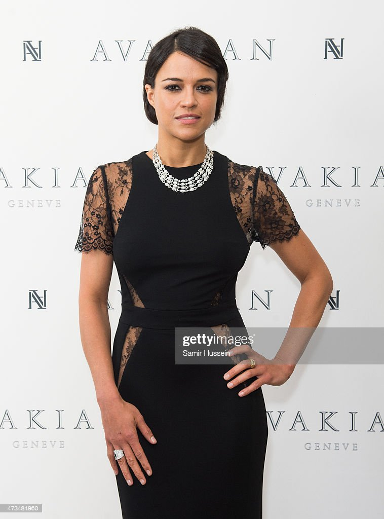 Michelle Rodriguez visits The Avakian Suite during The 68th Annual Cannes Film Festival at The Carlton on May 15 2015 in Cannes France