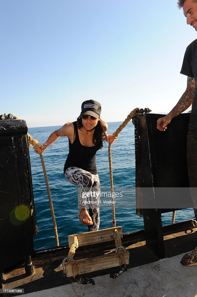 <a gi-track='captionPersonalityLinkClicked' href=/galleries/search?phrase=Michelle+Rodriguez&family=editorial&specificpeople=206182 ng-click='$event.stopPropagation()'>Michelle Rodriguez</a> visits The Sea Shepard's Steve Irwin Vessel during The 64th Annual Cannes Film Festival on May 20, 2011 in Cannes Harbor, France.