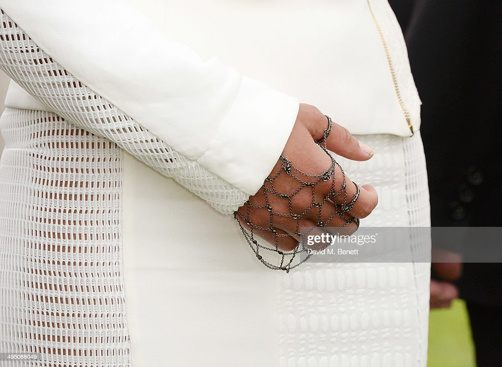 Michelle Rodriguez (detail), wearing a bracelet by Noudar, attends day two of the Audi Polo Challenge at Coworth Park Polo Club on June 1, 2014 in Ascot, England.