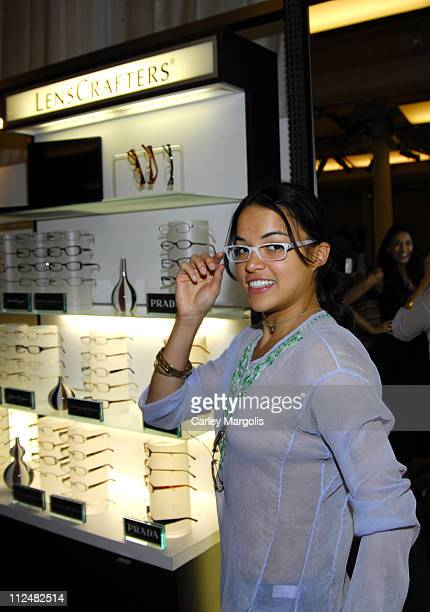 Michelle Rodriguez wearing Anand Jon Spring 2007 during New York Fashion Week Spring 2007 StyleLounge Anand Jon Runway and Backstage at Metropolitan...