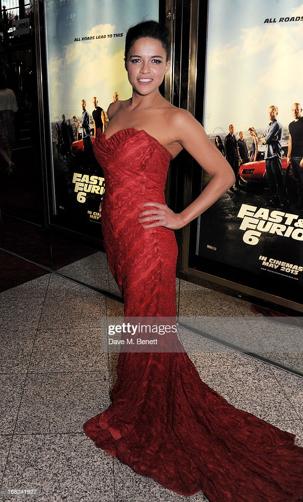 Michelle Rodrigueze attends the World Premiere of 'Fast & Furious 6' at Empire Leicester Square on May 7, 2013 in London, England.