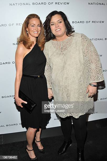 Michelle Rounds and Rosie O'Donnell attend the 2011 National Board of Review Awards gala at Cipriani 42nd Street on January 10 2012 in New York City
