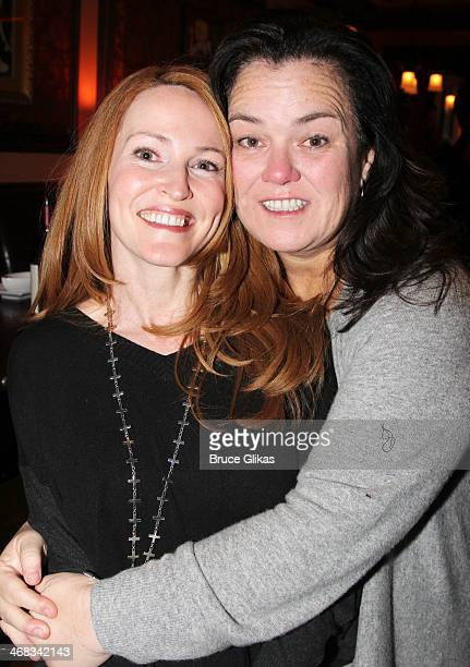 Michelle Rounds and wife Rosie O'Donnell attend the 'TabooTen Years Later' reunion concert at 54 Below on February 9 2014 in New York City