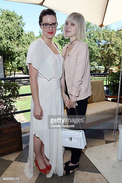 Michelle Ryan and Antonia CampbellHughes attends press conference of 'ANDRON THE BLACK LABYRINTH' by AMBI Pictures at Casa del Cinema on September 13...