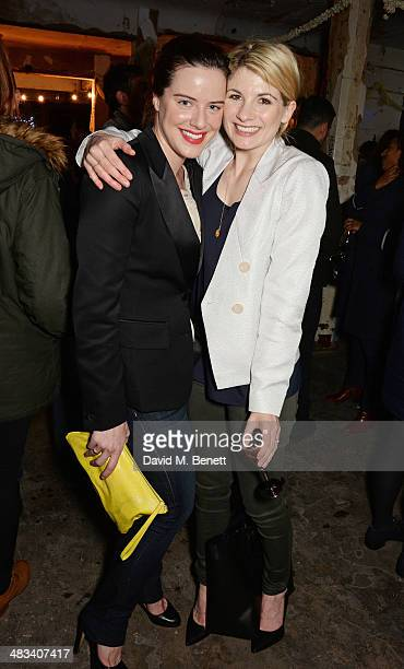 Michelle Ryan and Jodie Whittaker attend a drinks reception celebrating the Birds Eye View opening night gala screening of 'In Bloom' at Bargehouse...