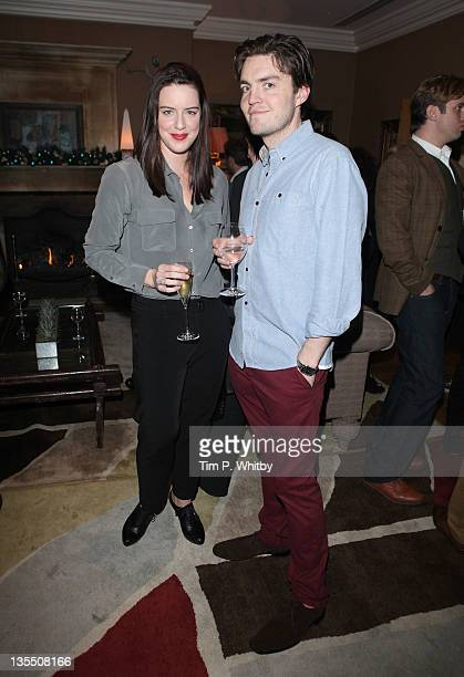 Michelle Ryan and Tom Burke attend a VIP Screening of The Artist at Charlotte Street Hotel on December 11 2011 in London England
