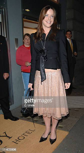 Michelle Ryan during 'Andy Gotts Degrees' Private View at Getty Images Gallery 46 Eastcastle Street in London Great Britain