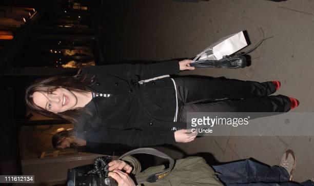 Michelle Ryan during Harvey Nichols Lanvin Arrivals at Harvey Nichols in London Great Britain