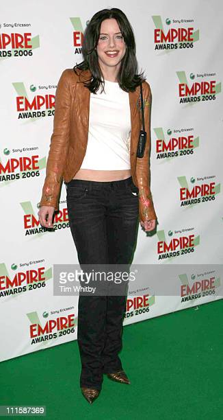 Michelle Ryan during Sony Ericsson Empire Film Awards 2006 Inside Arrivals at Hilton London Metropole in London Great Britain