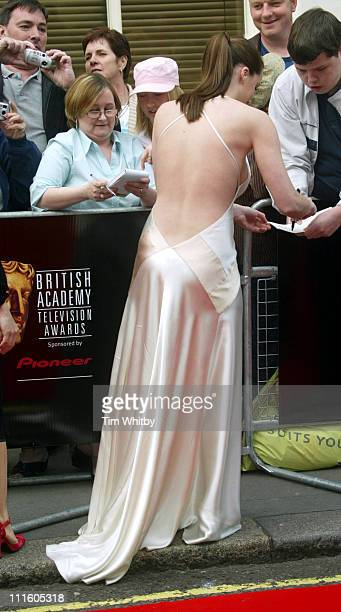 Michelle Ryan during The Pioneer British Academy Television Awards Outside Arrivals at Royal Theatre in London Great Britain