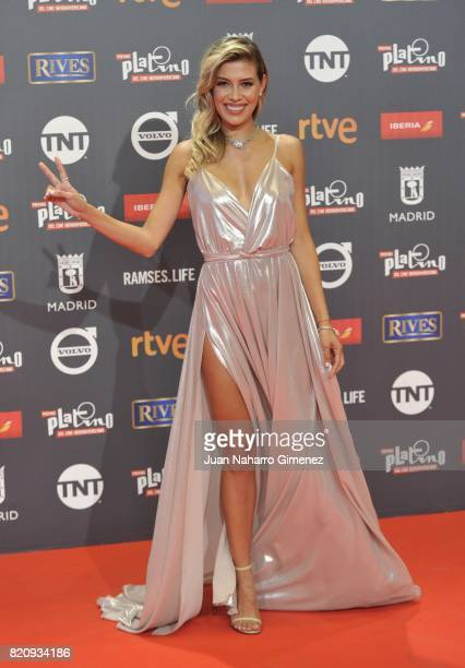 Michelle Salas attends the 'Platino Awards 2017' photocall at La Caja Magica on July 22 2017 in Madrid Spain