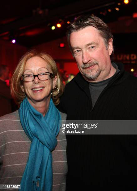 Michelle Satter and Director of Sundance Film Festival Geoffrey Gilmore attend the Feature Film Competition Dinner during the 2009 Sundance Film...