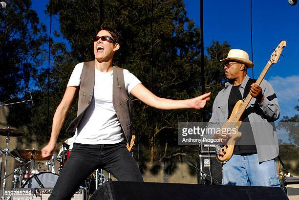 Michelle Shocked performs onstage at the Hardly Strictly Bluegrass Festival in Golden Gate Park San Francisco California USA on 6th October 2007