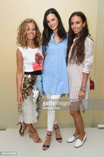 Michelle Smith and Allie Rizzo attend the MILLY x Laurie Simmons host launch party to support Planned Parenthood at Milly Soho on September 26 2017...
