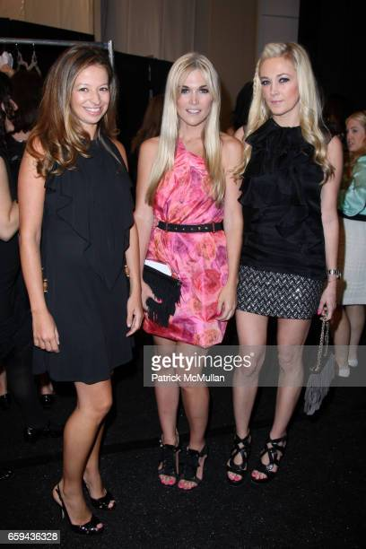 Michelle Smith Tinsley Mortimer and Dabney Mercer attend MILLY by Michelle Smith Spring 2010 Collection at Promenade on September 16 2009 in New York...