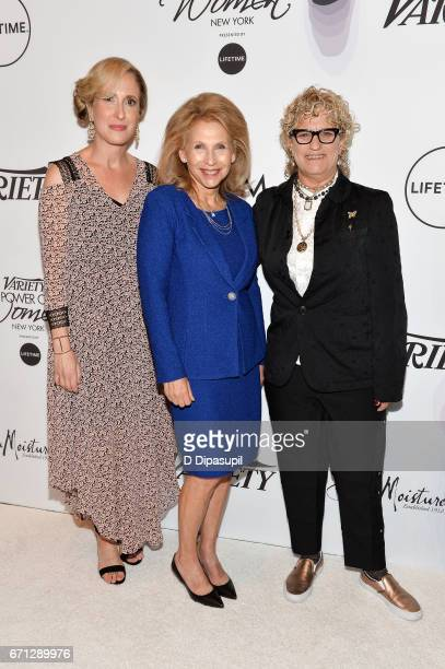 Michelle SobrinoStearns Shari Redstone and Claudia Eller attend Variety's Power of Women New York at Cipriani Midtown on April 21 2017 in New York...