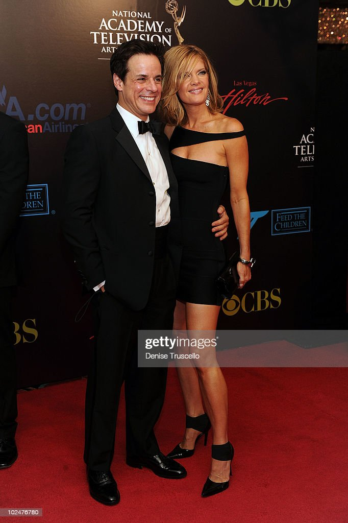<a gi-track='captionPersonalityLinkClicked' href=/galleries/search?phrase=Michelle+Stafford&family=editorial&specificpeople=171699 ng-click='$event.stopPropagation()'>Michelle Stafford</a> (R)arrives at the 37th Annual Daytime Emmy Awards at Las Vegas Hilton on June 27, 2010 in Las Vegas, Nevada.