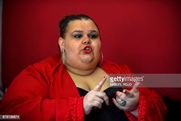 Michelle Suarez Uruguay's first transgender senator speaks during an interview with AFP at her house in Salinas Canelones department 39 kilometres...