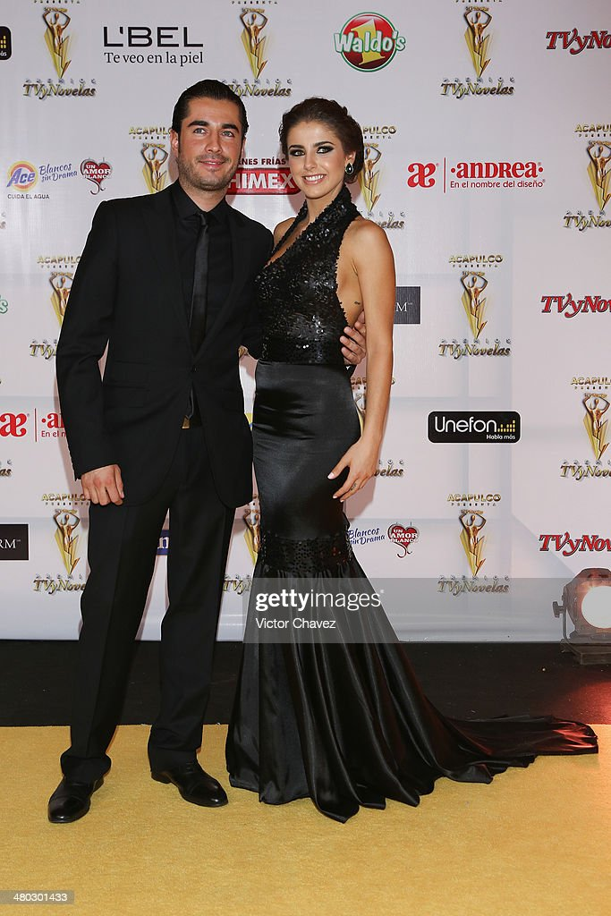 Michelle Tamayo and guest atten the Premios Tv y Novelas 2014 at Televisa Santa Fe on March 23 2014 in Mexico City Mexico