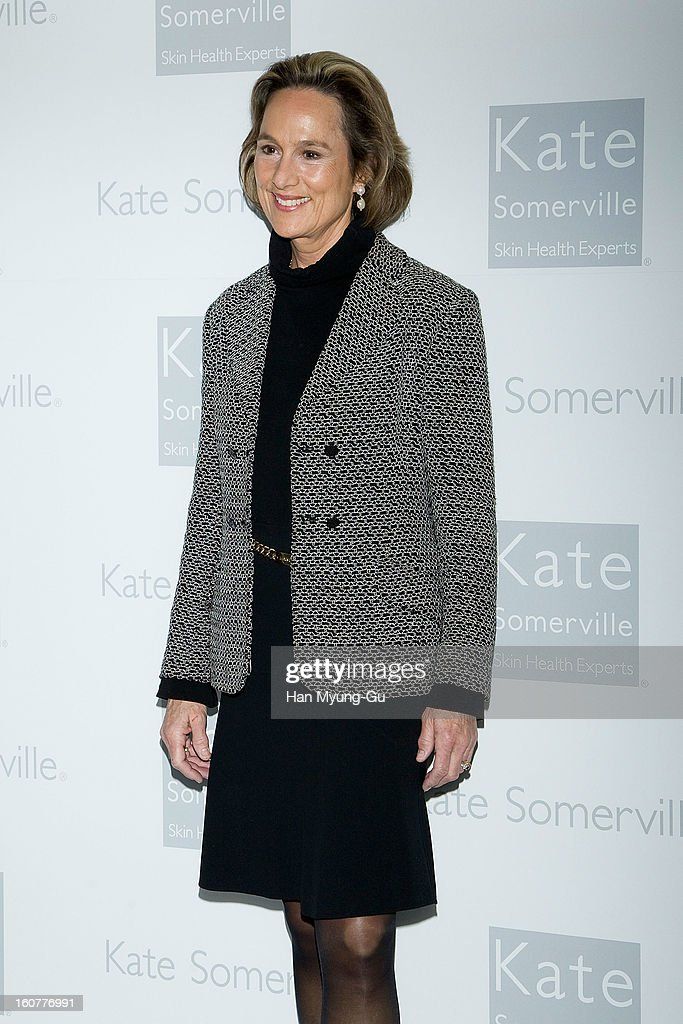Michelle Taylor, CEO of Kate Somerville Skincare attends the Kate Somerville Skin Care launching at Park Hyatt Hotel on February 5, 2013 in Seoul, South Korea.