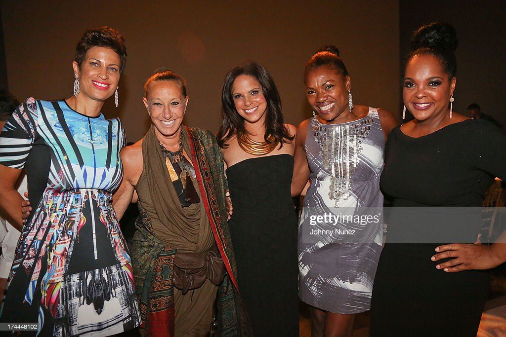 Michelle Thornton, Donna Karan, <a gi-track='captionPersonalityLinkClicked' href=/galleries/search?phrase=Soledad+O%27Brien&family=editorial&specificpeople=223926 ng-click='$event.stopPropagation()'>Soledad O'Brien</a>, guest and Kim Bondy attend the 3rd Annual New Orleans to New York Benefit Gala at Donna Karan's Stephen Weiss Studio on July 25, 2013 in New York City.