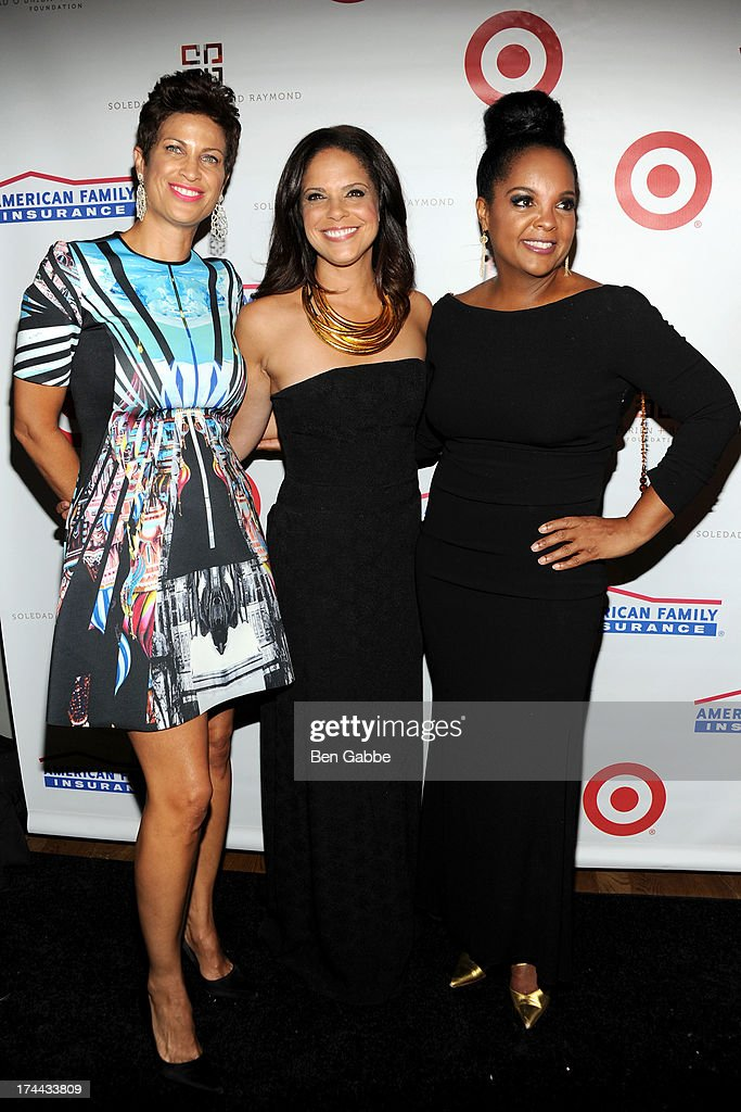 Michelle Thornton, Soledad O'Brien and Kim Brody attend New Orleans To New York City Benefit Gala at Donna Karen's Stephen Weiss Studio on July 25, 2013 in New York City.
