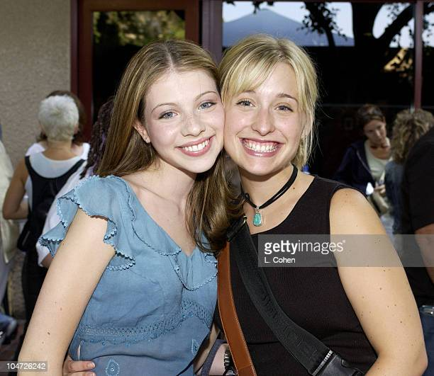 Michelle Trachtenberg Allison Mack during The 2002 Teen Choice Awards Backstage Creations Talent Retreat Day 1 at Universal Amphitheatre in Universal...
