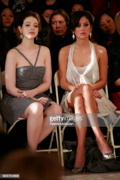 Michelle Trachtenberg and Jessica Stroup attend JILL STEWART Fall 2009 Collection at Astor Hall on February 16 2009 in New York City