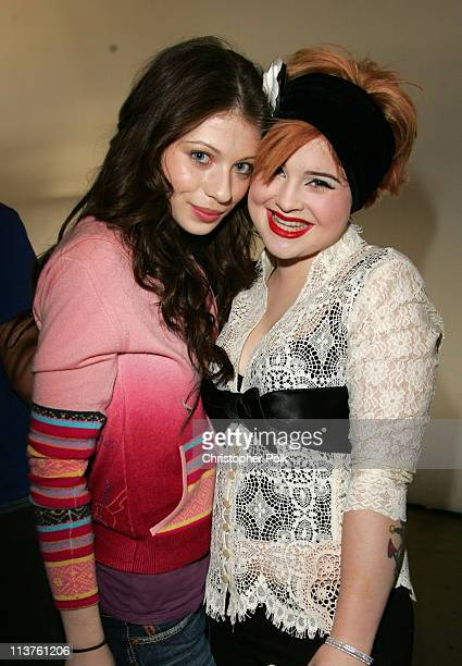 Michelle Trachtenberg and Kelly Osbourne during Sony Computer Entertainment America and the Bruce Willis Foundation Present Playstation BANDtogether...