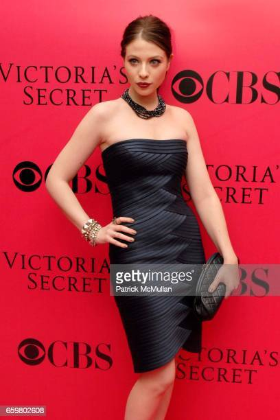 Michelle Trachtenberg attends 2009 VICTORIA'S SECRET Fashion Show Pink Carpet Arrivals At The Lexington Armory on November 19 2009 in New York City