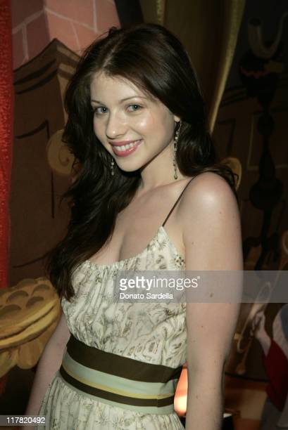 Michelle Trachtenberg during Disney's Alice in Wonderland Mad Tea Party at Private Residence in Los Angeles California United States