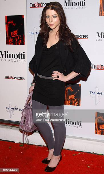 Michelle Trachtenberg during Kirsten Dunst Hosts The Art of Elysium Annual Art Benefit Arrivals and Inside at Minotti in Los Angeles California...