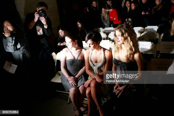Michelle Trachtenberg Jessica Stroup and Adrienne Palicki attend JILL STEWART Fall 2009 Collection at Astor Hall on February 16 2009 in New York City