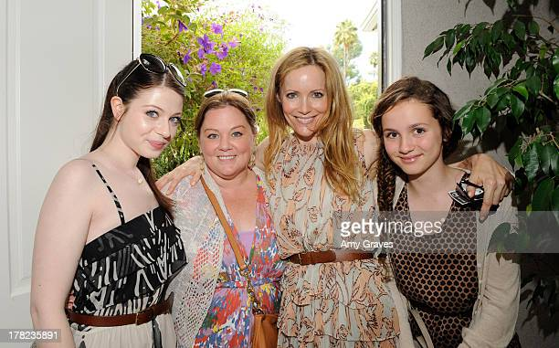 Michelle Trachtenberg Melissa McCarthy and Leslie Mann attend the annual Jen Klein Day of Indulgence Summer Party on August 14 2011 in Los Angeles...