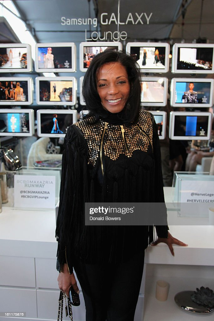 Michelle Vessels attends the VIP reception for Herve Leger by Max Azria hosted by Samsung Galaxy Lounge at Mercedes-Benz Fashion Week Fall 2013 Collections at Lincoln Center on February 9, 2013 in New York City.