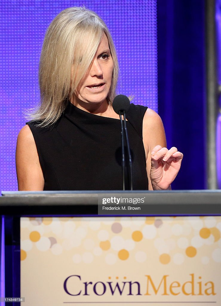 Michelle Vicary, Executive Vice President of programming for Crown Media Family Networks speaks onstage during the Hallmark Channel and Hallmark Movie Channel portion of the 2013 Summer Television Critics Association tour at the Beverly Hilton Hotel on July 24, 2013 in Beverly Hills, California.