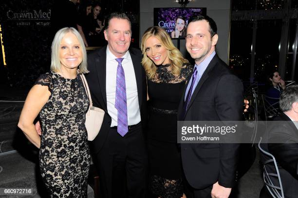 Michelle Vicary Randy Pope Debbie Matenopoulos and Peter Capozzi attend Crown Media's Upfront Event at Rainbow Room on March 29 2017 in New York City
