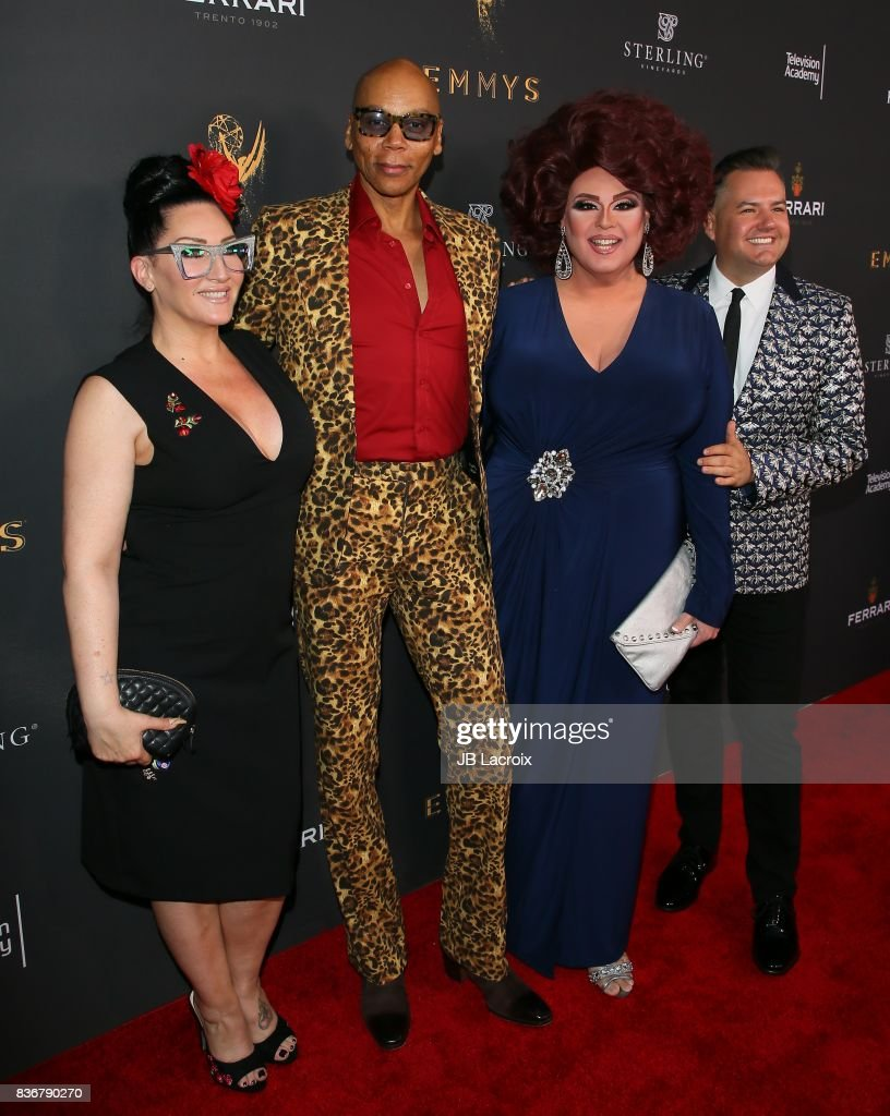 Michelle Visage, from left, RuPaul, Delta Work and Ross Mathews attend the Television Academy's Performers Peer Group Celebration on August 22, 2017 in Los Angeles, California.