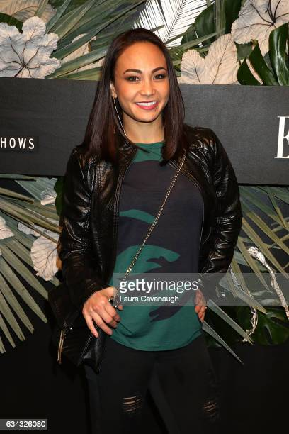 Michelle Waterson attends E ELLE IMG Fashion Week KickOff on February 8 2017 in New York City