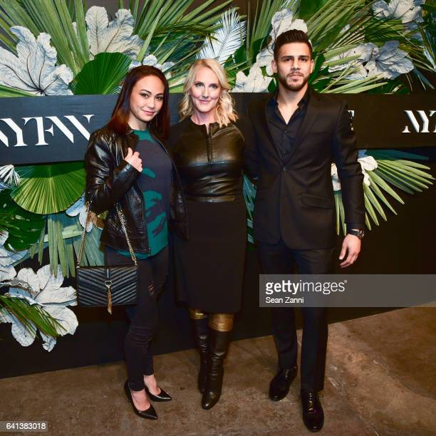 Michelle Waterson Catherine Bennett and Yair Rodriguez attend ELLE E And IMG Host New York Fashion Week February 2017 KickOff Event at 40 Bethune...