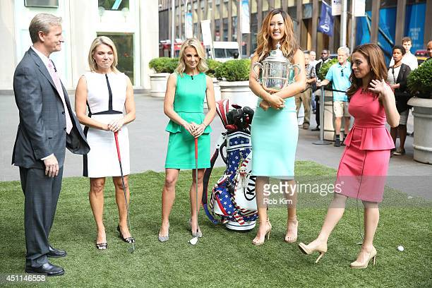Michelle Wie 2014 US Women's Open Golf Champion with hosts Steve Doocy Heather Nauert Elisabeth Hasselbeck and Maria Molina at 'FOX And Friends' at...