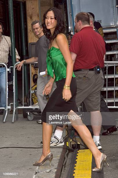 Michelle Wie during Michelle Wie Visits The Late Show with David Letterman August 8 2005 at Ed Sullivan Theater in New York City New York United...